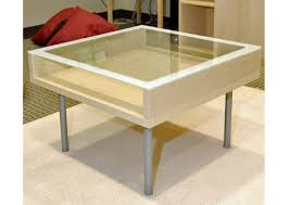 Clear Coffee Table Ikea Clear Glass Has A Light And Aesthetically Clean Look Puling Light Through The Room To Create An Open (Image 3 of 10)