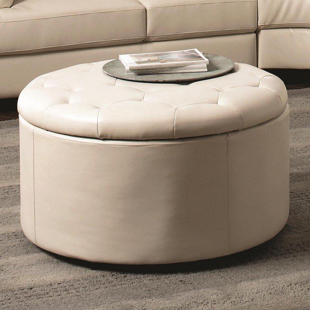 coaster-round-ottoman-cream-round-ottoman-coffee-tables-round-leather-storage-ottoman-jcpenney-ottoman (Image 2 of 10)