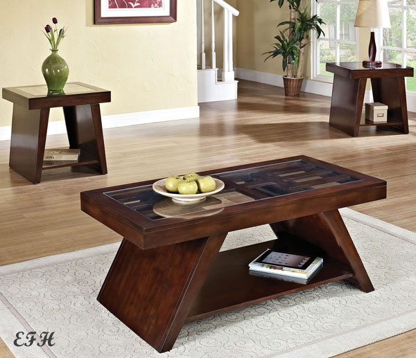coffee-and-end-table-set-Duvani-Glass-Top-Dark-Brown-Cherry-Finish-Wood-ideas-interiors-living-rooms (Image 6 of 10)