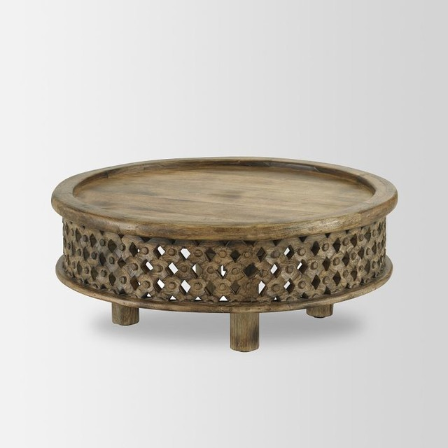 Coffee Table Low Round Wood Coffee Table Carved Wood Coffee Table Contemporary Coffee Tables (View 2 of 10)