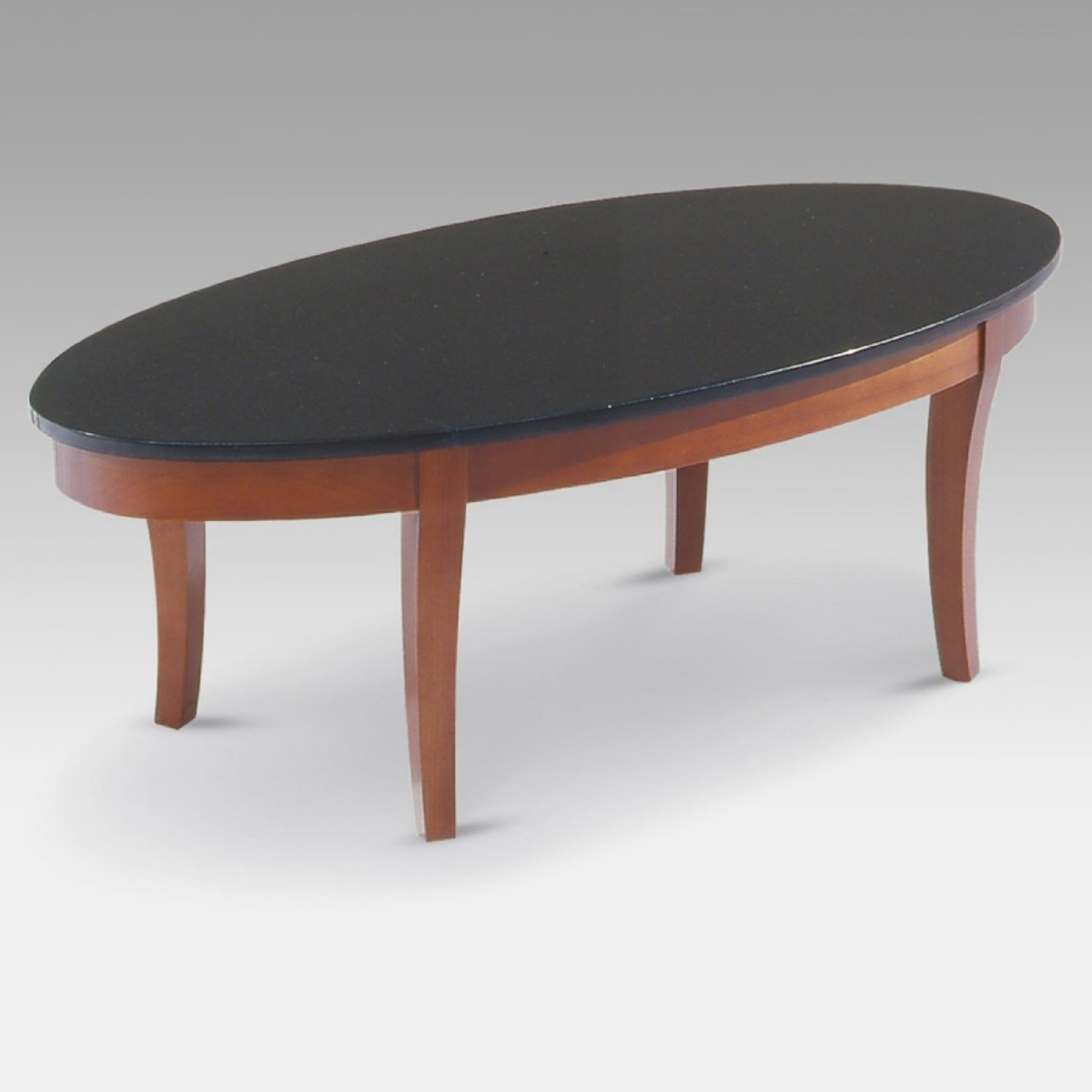 Showing Gallery Of Round Granite Top Coffee Tables View Of Photos - Oval shaped marble coffee table