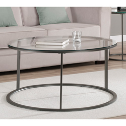 Featured Photo of Round Coffee Tables With Glass Top And Wood