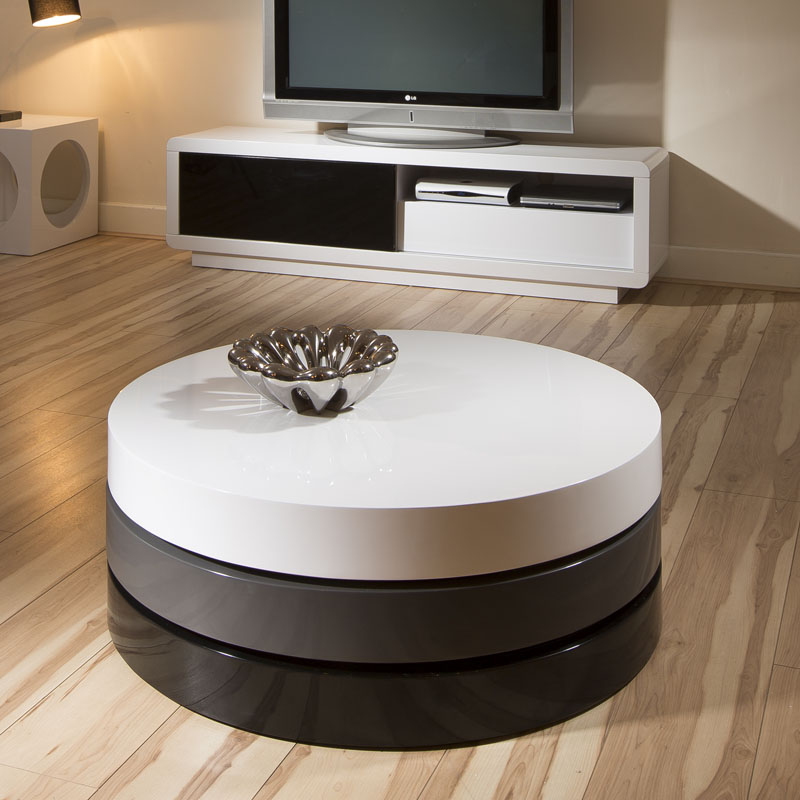 Featured Photo of All Modern Round Coffee Table With Storage Furniture