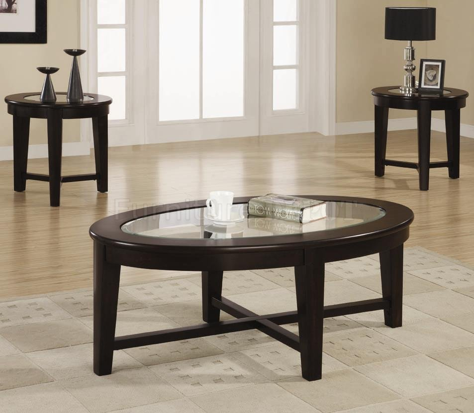 Coffee Table Set Simple Decoration 9 On Table Design Ideas Ouval Shape Wood Stained Furnish On Living Room (Image 4 of 10)
