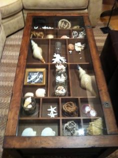 Coffee Table With Glass Display Case Franks Cabinet Design Made Me Think How Cool A Coffee Table With Glass Top Could Be Topped (Image 6 of 10)