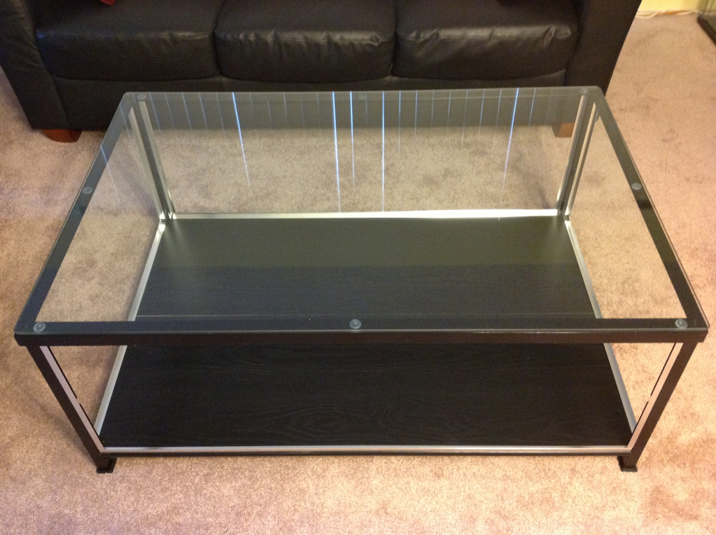 Coffee Table With Glass Display Case Glass Top And Sliding Drawer Lined With Crushed Velvet Made To Display Coin Still Looking For Mail Man With My Lights (Image 7 of 10)