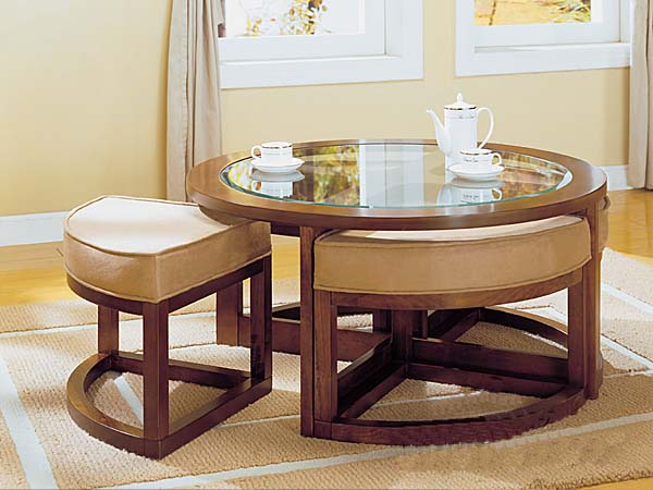 Coffee Table With Seating Not Any Additional Chairs Are Needed Modern Coffee Tables Ideas And Tips Round Coffee Table With Seats (View 2 of 10)