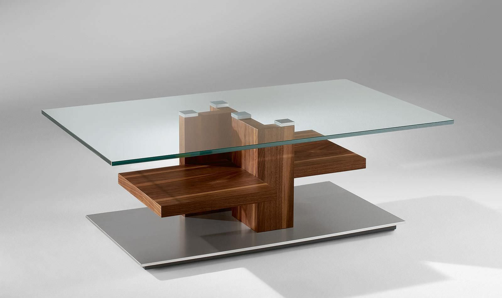 Coffee Table Wood And Glass Twin Coffee Table Stands Elegantly On Reclaimed Wood Base Contemporary 4424 Alfons Venjakob Gmbh (Image 8 of 10)