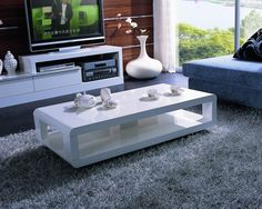 coffee-tables-and-tv-stands-5001c-white-lacquer-coffee-table-rounded-edge-coffee-table-mission-style-coffee-table-with-rounded-corners (Image 2 of 10)