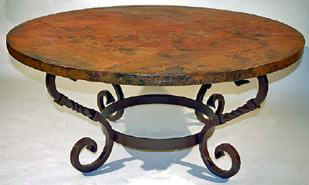 coffee-tables-archives-copper-coffee-table-with-margarita-base-round-slate-coffee-table-slate-top-coffee-tables (Image 2 of 9)