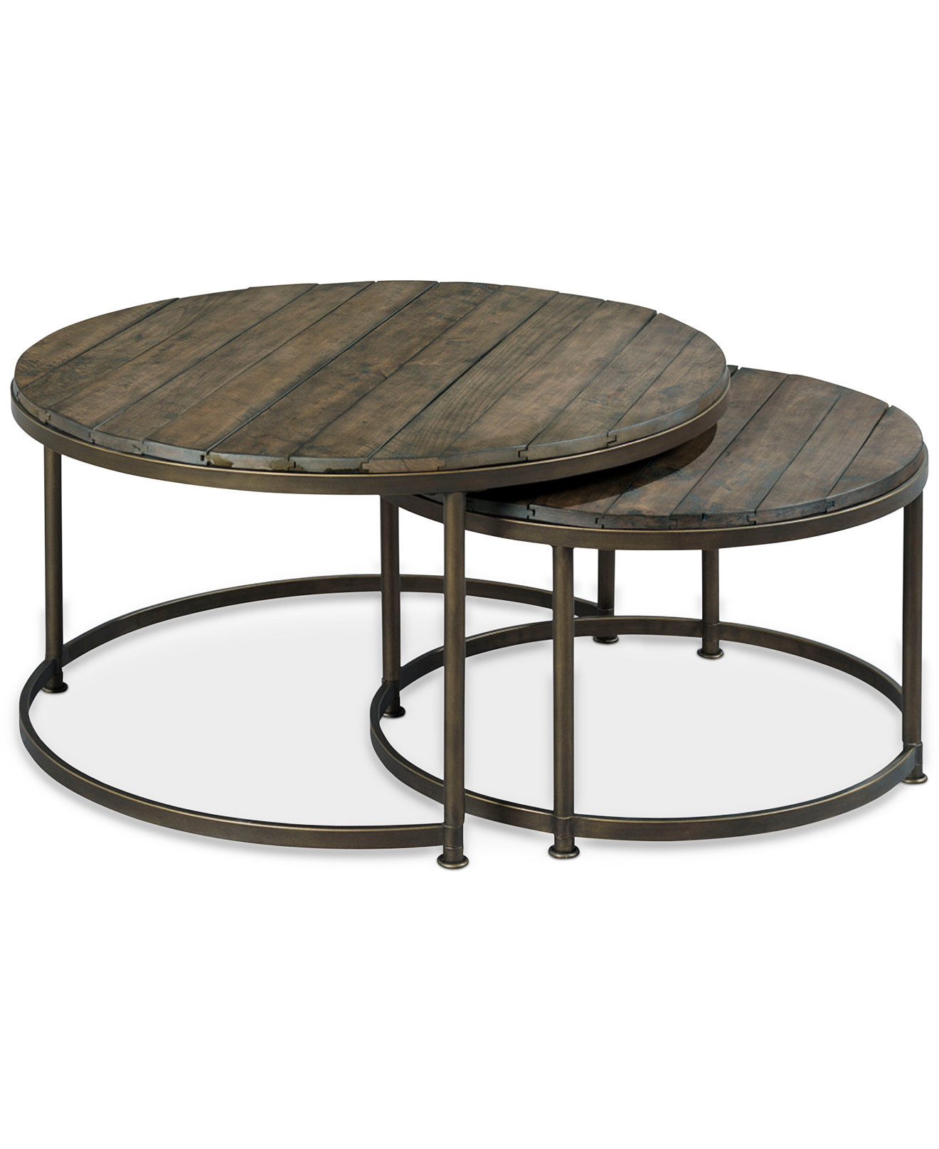 Coffee Tables End Side And Accent Table Link Wood Set Of 2 Round Nesting Coffee Tables Nesting Coffee Table Round (Image 3 of 10)