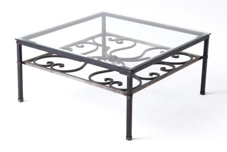 Coffee Tables That Are Fabricated Out Of Wrought Iron And Topped With Either Glass Round Glass Top Coffee Table Wrought Iron (Image 2 of 10)