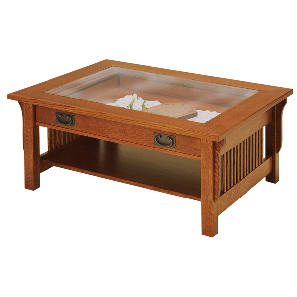 Coffee Tables With Glass Tops Amish Lancaster Glass Top Coffee Table Amish Furniture Shipshewana Furniture (View 2 of 10)
