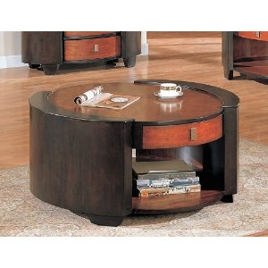 Featured Photo of Large Round Wooden Coffee Table With Drawers