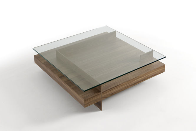 Coffee Tables Wood And Glass Coffee Table Contemporary Glass Indoor Ketel By Vicente Gallega Kendo Unique Design (View 2 of 9)