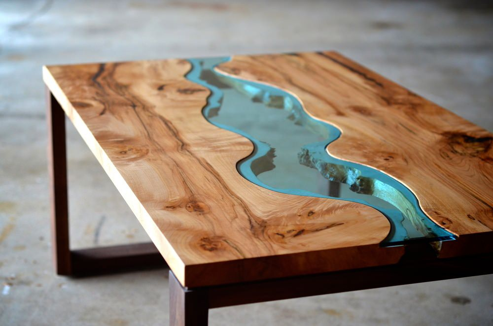 Coffee Tables Wood And Glass Irregular Wood And Glass River Coffee Table In All Its Beautiful And Deadly Incarnations So Fascinating To Us All (View 3 of 9)
