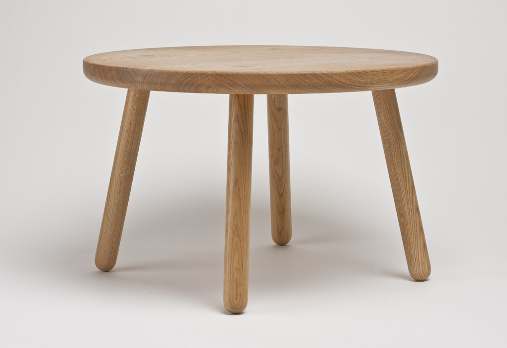 coffee_table_round_Coffee-Table-One-round-design-Round-Oak-Coffee-Table (Image 3 of 10)