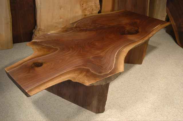 Coffee Table Walnut Crotch Cherry Crotch Slab Rustic Custom Coffee Table Rustic Unique Unusual (Image 2 of 8)