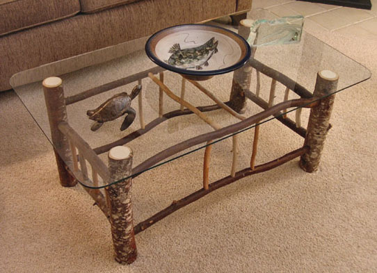 coffeetable-Rustic-Wood-Funiture-Creations-Rustic-Glass-Coffee-Table-with-leg-natural-tree-ideas (Image 3 of 10)
