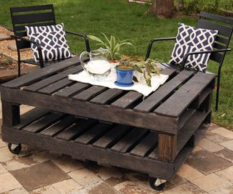 Featured Photo of Rustic Coffee Table On Wheels
