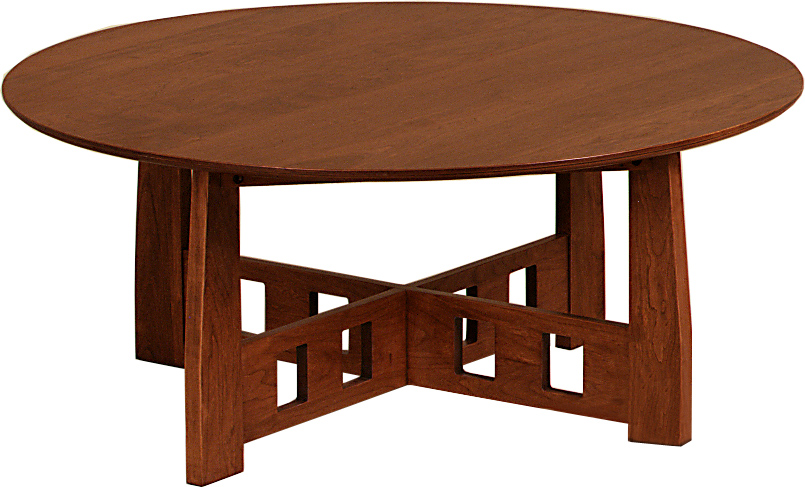 complete-your-room-with-solid-cherry-and-quarter-sawn-oak-coffee-tables-end-tables-and-sofa-consoles-round-mission-coffee-table (Image 4 of 10)