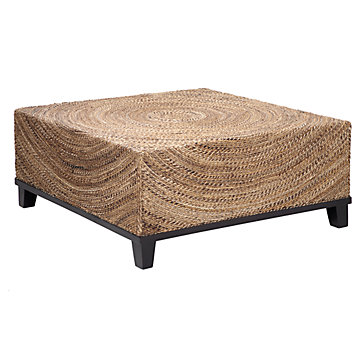 Concentric Modern Wood Coffee Table Reclaimed Metal Mid