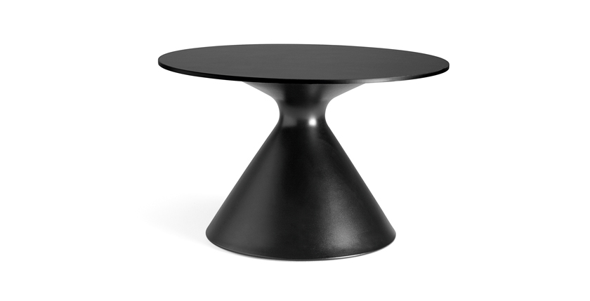 cone-coffee-table-unique-small-round-black-coffee-table-design-black-round-coffee-table-contemporary-outdoor-round-coffee-table (Image 4 of 10)