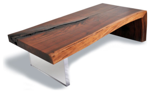 Contemporary Modern Wood Coffee Table Reclaimed Metal Mid Century Round  Natural Diy All Modern Walnut Coffee