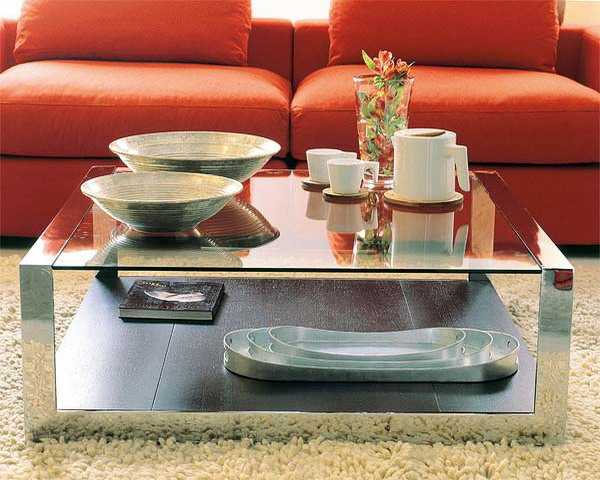 Contemporary Modern Wood Coffee Table Reclaimed Metal Mid Century Round Natural Diy Contemporary Modern Mirrored Coffee Table (Image 1 of 10)