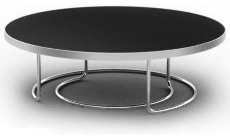 Featured Photo of Modern Round Black Glass Coffee Table