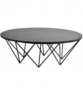 contemporary-black-round-slate-coffee-table-round-slate-coffee-table-slate-coffee-tables-slate-top-coffee-tables (Image 3 of 9)