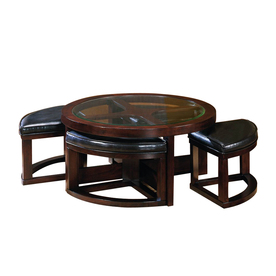 Contemporary Coffee Tables Round Coffee Table Espresso Contemporary Coffee Tables Ottoman (Image 5 of 10)
