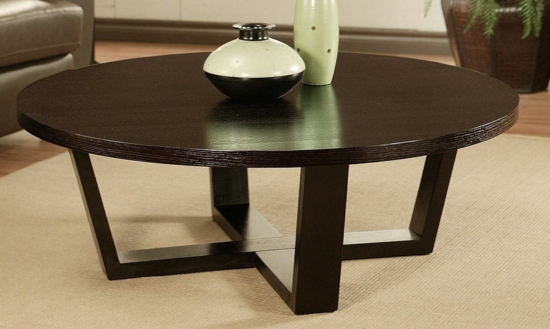 Contemporary Coffee Tables Round Coffee Table Espresso Contemporary Coffee Tables Round Coffee Table Espresso (Image 6 of 10)