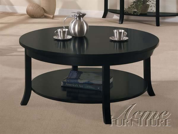 Contemporary Coffee Tables Round Coffee Table Espresso Contemporary Coffee Tables (Image 3 of 10)