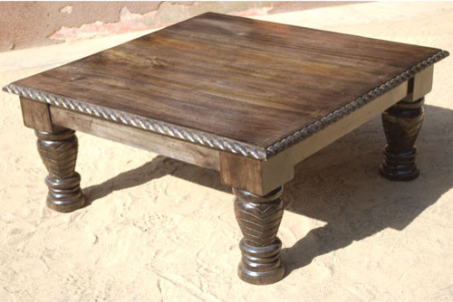 contemporary-coffee-tables-Unique-Rustic-Solid-Wood-Square-Sofa-Coffee-Table-contemporary-coffee-tables-3 (Image 2 of 10)