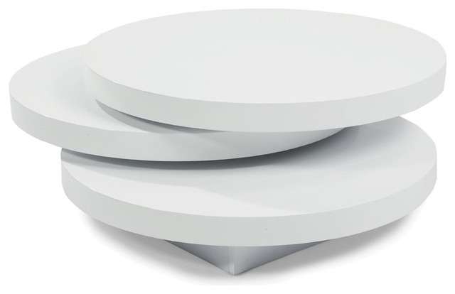 Contemporary Coffee Tables Moes Home Torno Round Coffee Table In White Round Coffee Table White White Coffee Table With Wood Top (View 2 of 10)