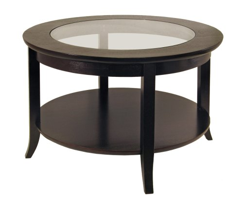 Contemporary Coffee Tables With Glass On Top Round Coffee Table Espresso Contemporary Coffee Tables (Image 7 of 10)