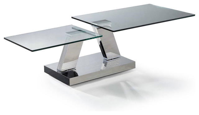 Contemporary Glass Coffee Table Bacher Avoca Contemporary Coffee Table With Twin Rotating Glass Plates (Image 1 of 7)