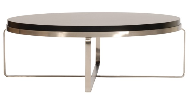 Contemporary Round Coffee Tables Modern Round Coffee Tables Round Elegant Stainless Steel Chrome Stained Wooden Coffee Table (Image 1 of 10)