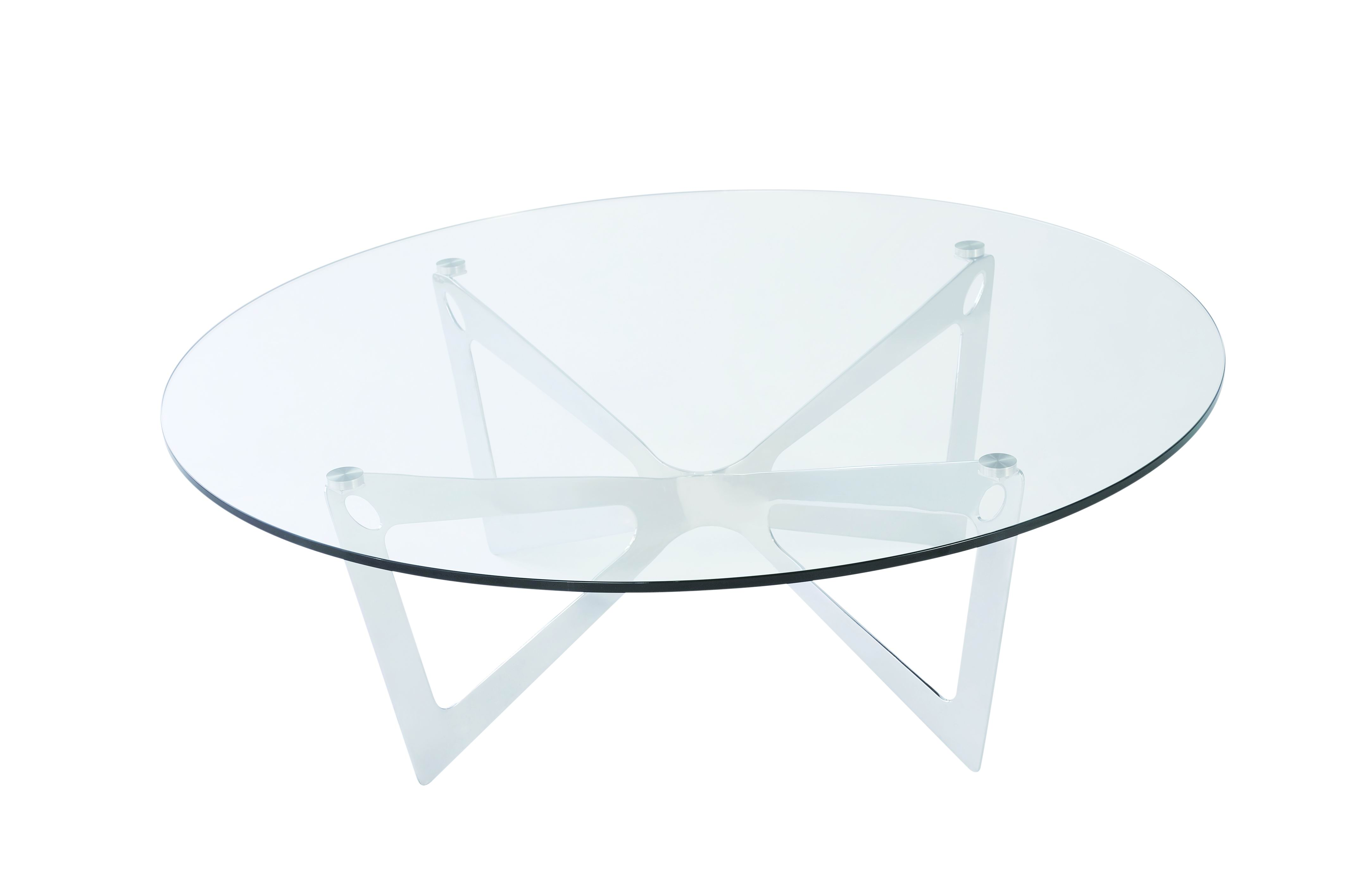 10 Best Collection of Coffee Tables Round Glass and Metal