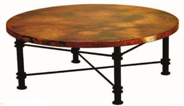 Featured Photo of Hammered Round Copper Coffee Table