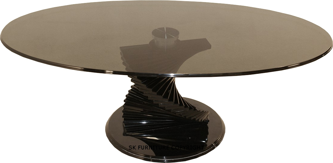Cordoba Black Glass Coffee Table Round Black Glass Coffee Table Round Coffee Side Table Top Black Modern Round Coffee Table (Image 2 of 10)