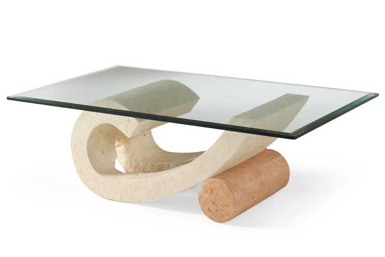 Custom Glass Coffee Tables Isamu Noguchi Style Modern Wooden Coffee Table With Glass Top (Image 7 of 10)