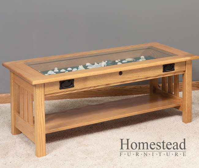 Custom Glass For Coffee Table Mission Coffee Table With Glass Top Omestead Furniture Extraordinary Wood Square Tables (View 7 of 9)