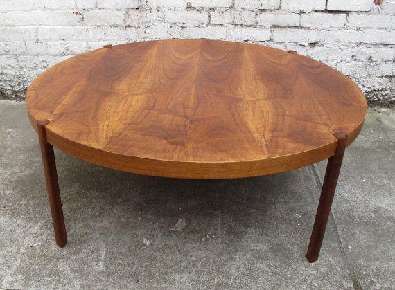 Danish Mid Century Modern Large Round Teak Coffee Table Solid Teak Coffee Tables Furniture Round Teak Coffee Table (View 2 of 10)