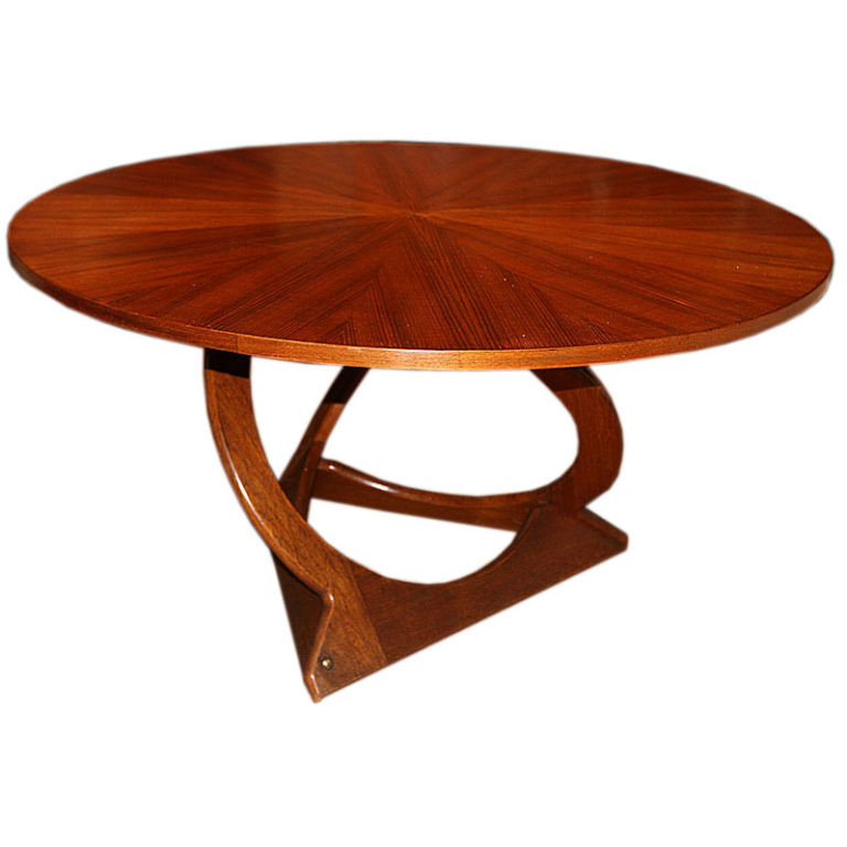 Danish Round Teak Coffee Table With Teak Veneer Top Round Teak Coffee Table Unique Items For Round Coffee Table (View 3 of 10)