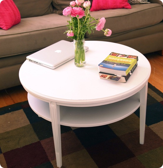 Dark Wood Table Texture White Round Coffee Table