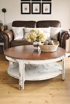 Distressed Round Coffee Table Distressed Coffee Table Set Coffee Table Makeover Distressed Wood Trunk Coffee Table (Image 2 of 10)