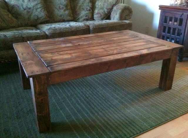 Featured Photo of Large Rustic Coffee Table