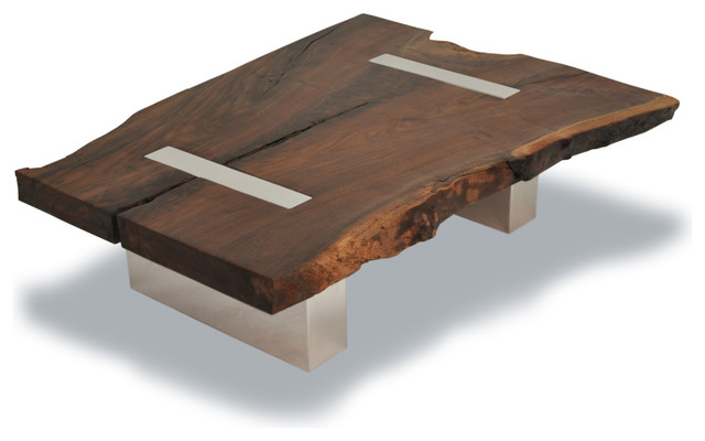 Eclectic Modern Wood Coffee Table Reclaimed Metal Mid Century Round Natural Diy All Modern Coffee Table Legs (View 2 of 10)